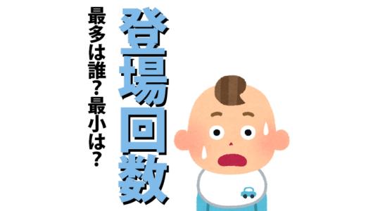 アンパンマンキャラクター登場回数まとめ【最多から最小まで】